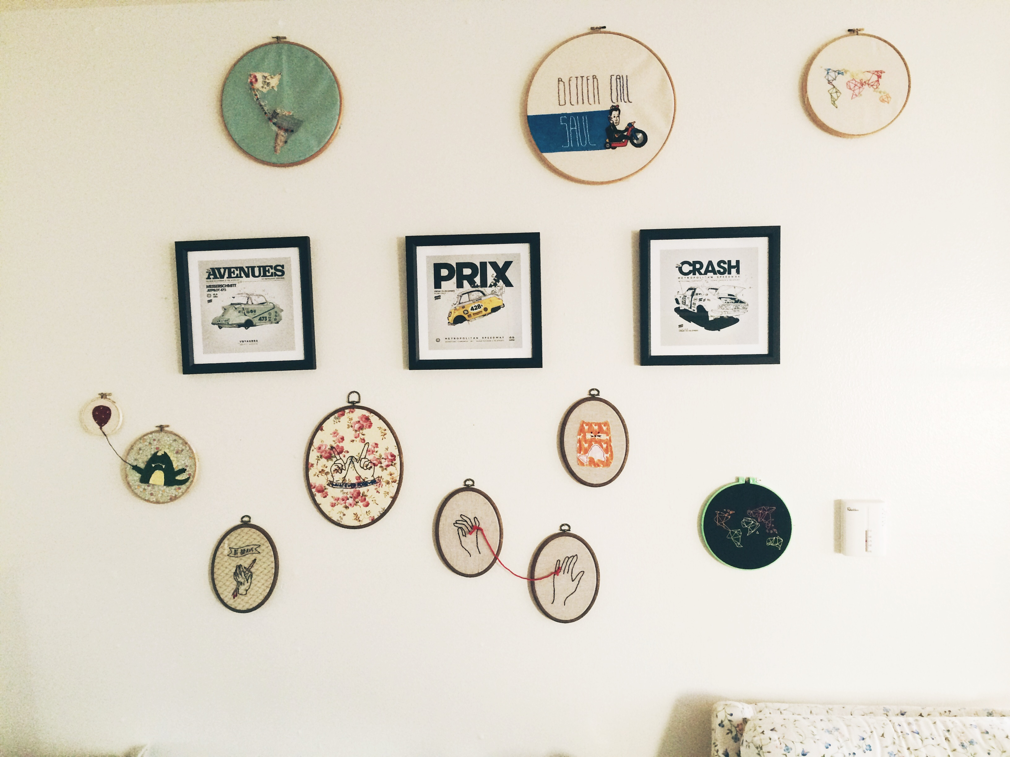 embroidery wall