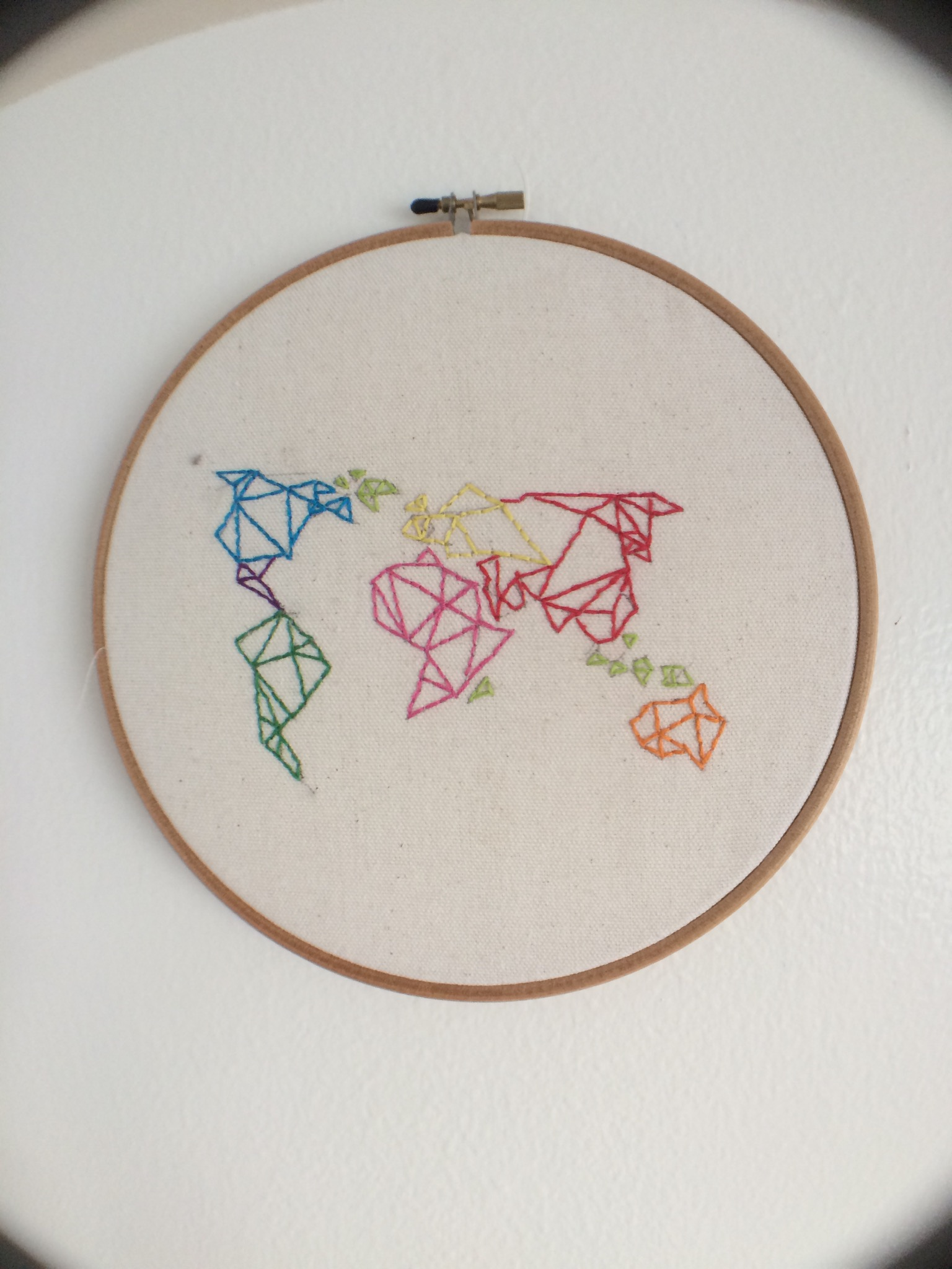 embroidery origami map lite