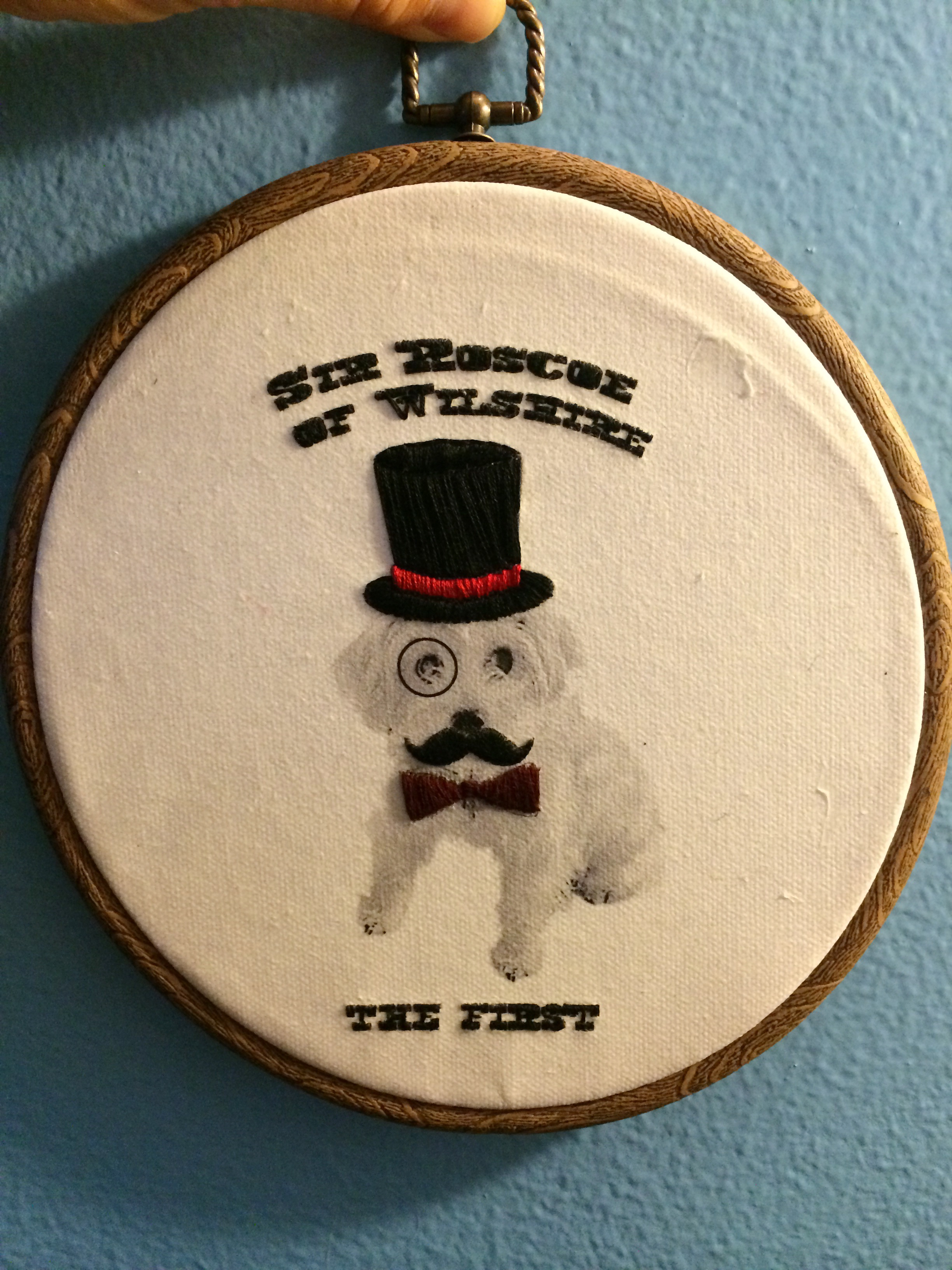 embroidery sir roscoe